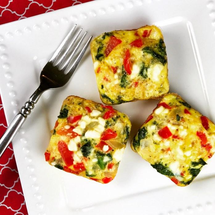 """Make-Ahead Veggie Egg """"Muffins"""""""