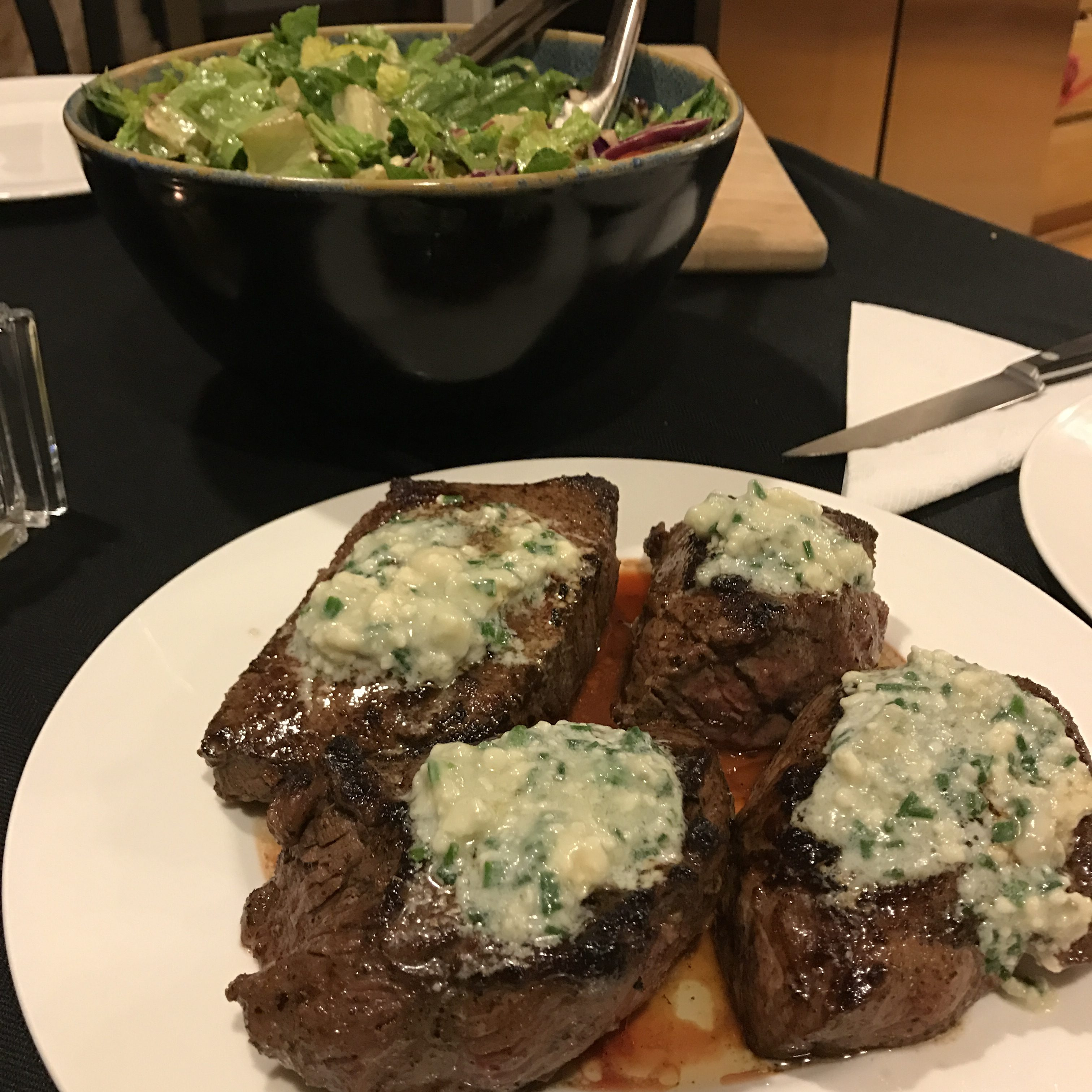 This Blue Cheese Topped Sirloin recipe is beyond delicious!