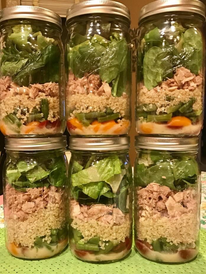 Niçoise Salad in a Jar