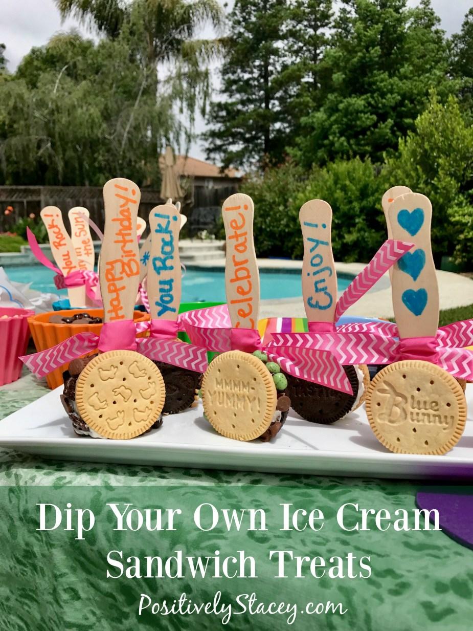 Dip Your Own Ice Cream Sandwich Treats