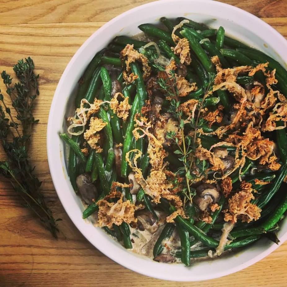 Lower Carb Green Bean Casserole