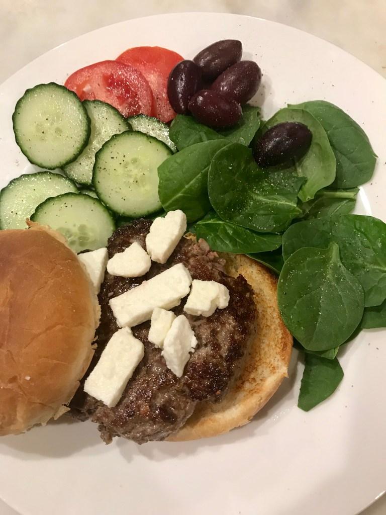 Easiest Greek Hamburgers #SundaySupper