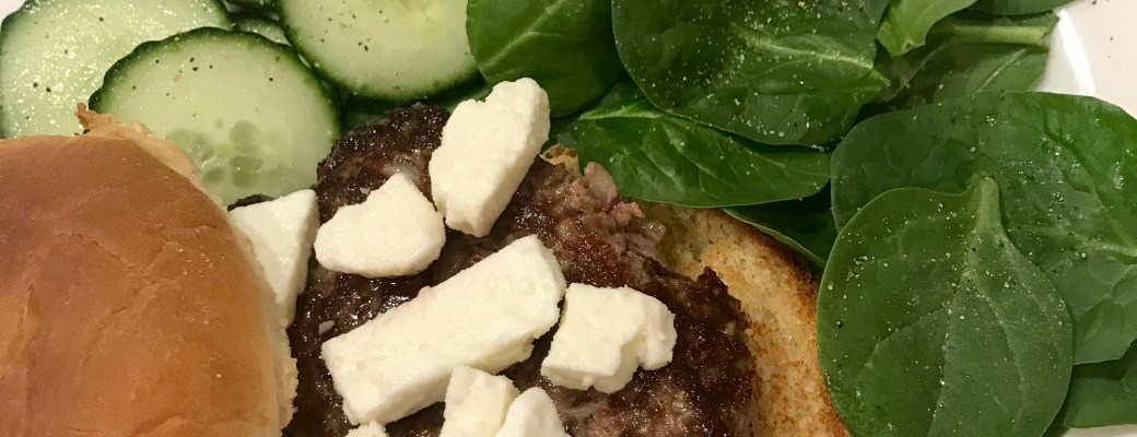 Easiest Greek Hamburgers #SundaySupper