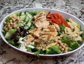 Greek Lemon-Dill Grilled Chicken Salad