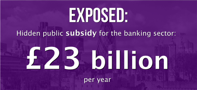 hidden subsidy for banks