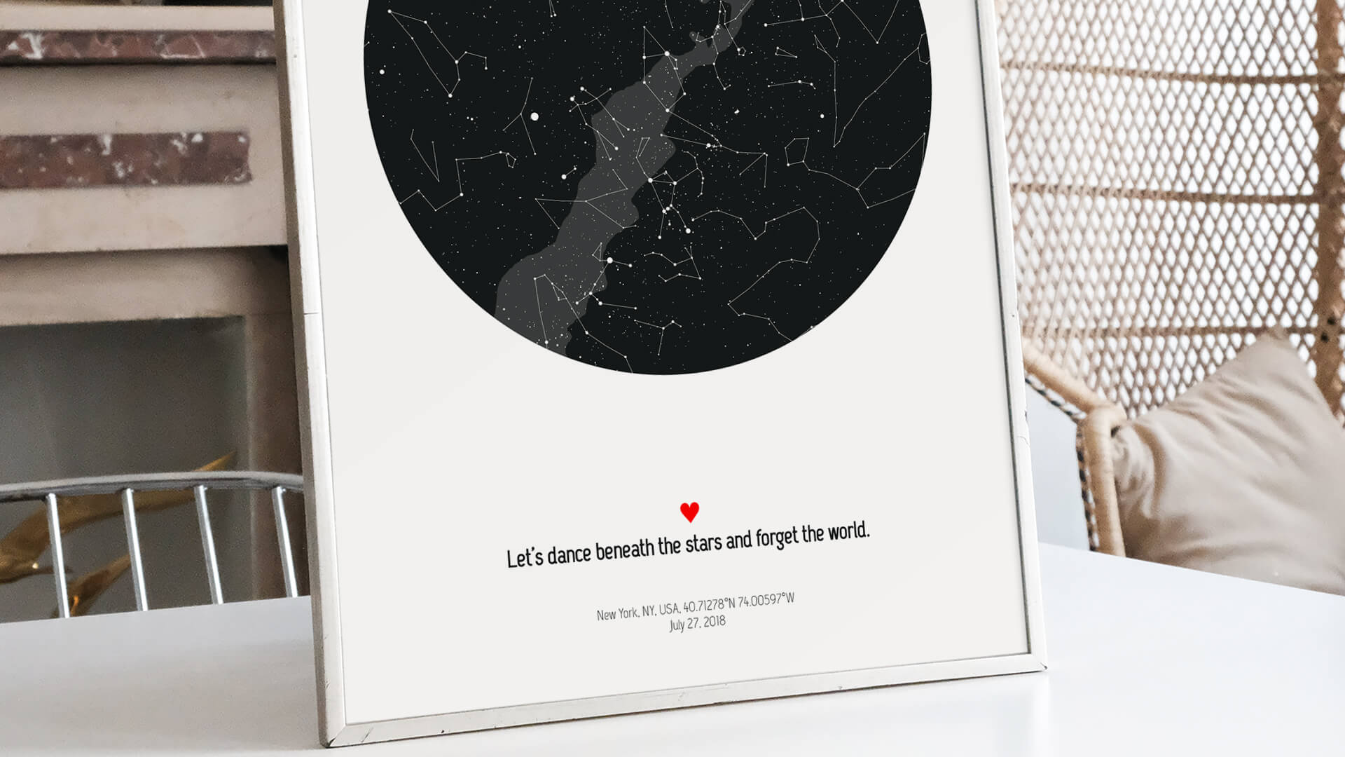 star map quotes what do you write on