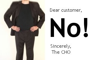 Say no to difficult customers