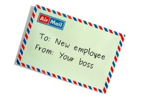 Note to new employees