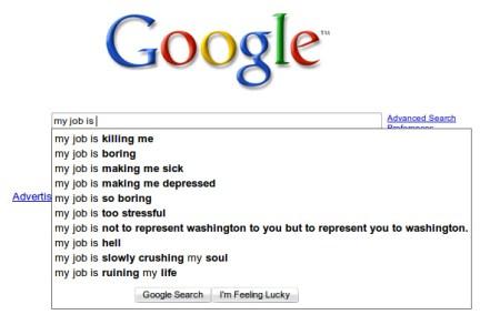 Google: My job is...