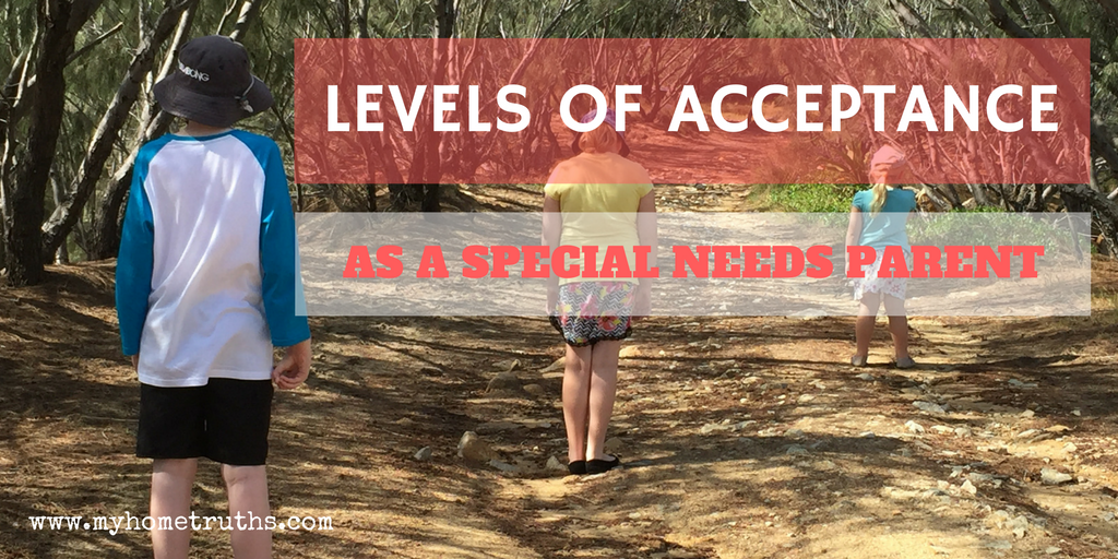Levels of Acceptance in Special Needs Parenting - www.myhometruths.com