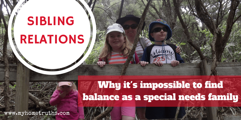 Sibling Relations: Why It's Impossible to Find Balance in a Special Needs Family