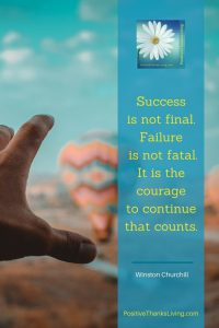 Courage to continue that counts - Winston Churchill pin