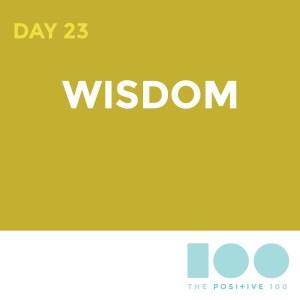 Day 23 : Wisdom | Positive 100 | Chronic Positivity Project