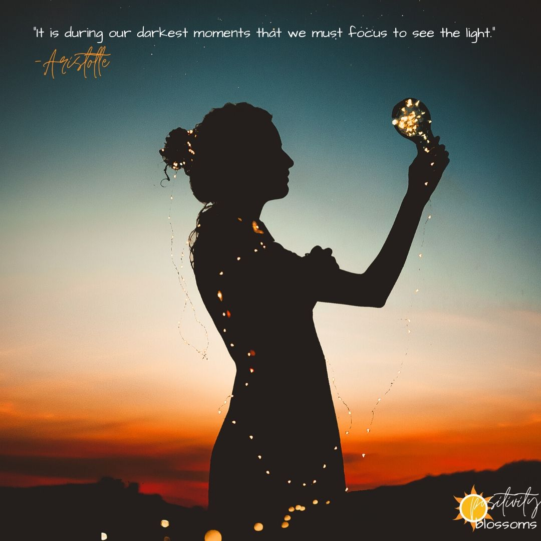 It is during our darkest moments that we must focus to see the light Aristotle Quote Image
