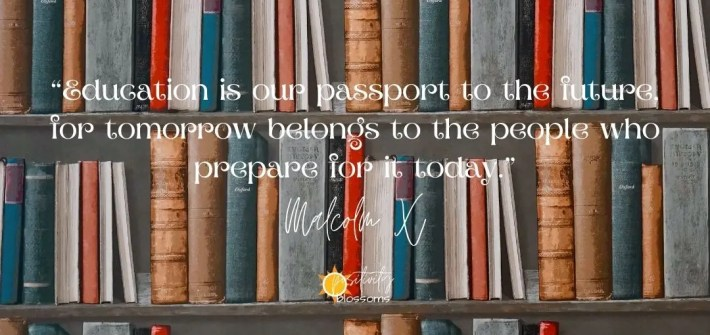 Education is our passport to the future Malcolm X quote blog featured image
