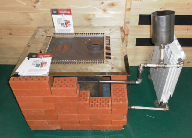 Brick oven for home heating