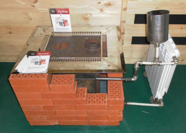 اجاق گاز آجر برای گرمایش خانگی