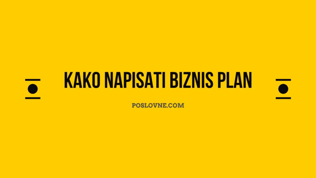 kako napisati biznis plan