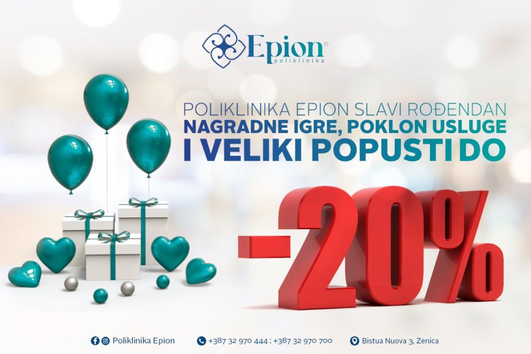 """Poliklinika """"Epion"""" slavi drugi rođendan, očekuju vas popusti, nagradne igre i druga iznenađenja"""