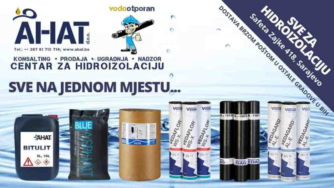Proljetna akcija u AHAT d.o.o. - Centar za hidroizolaciju jedinstveni specijalizirani centar na području BiH