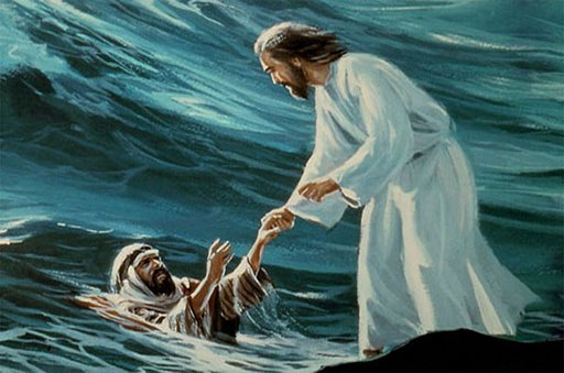 Jesus Pulls Peter From the Water