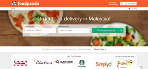foodpanda - website - Malaysian version