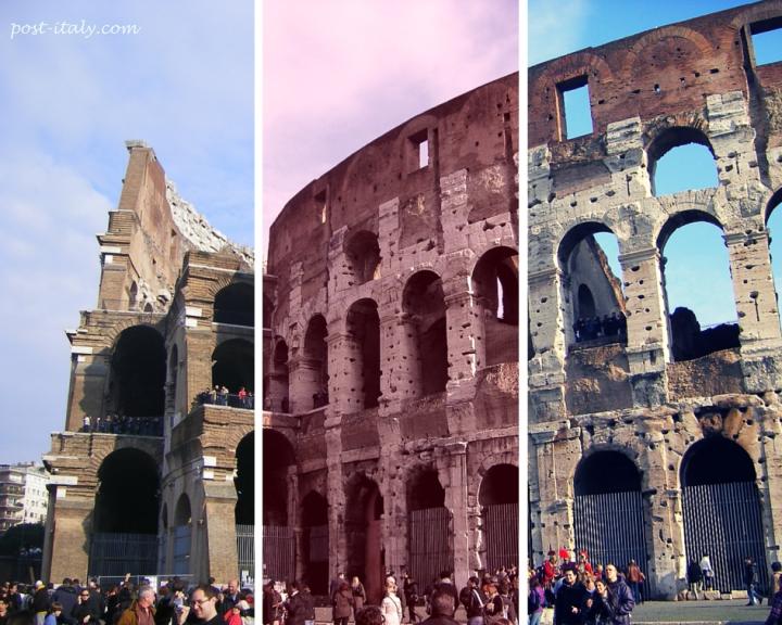 fachada do Coliseu em Roma