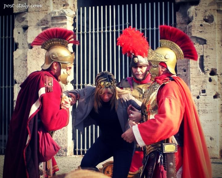 gladiadores no Coliseu