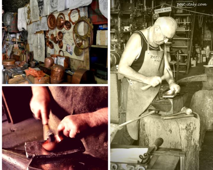 artesãos na Itália