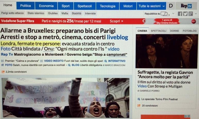 notícias da Itália