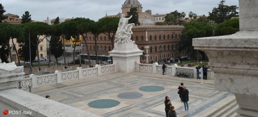 Vittoriano em Roma, terraço panorâmico