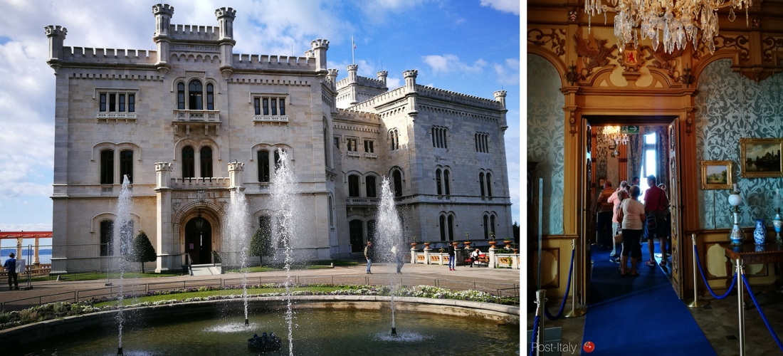 Castello di Miramare em Trieste, o monumento mais fotogênico da cidade