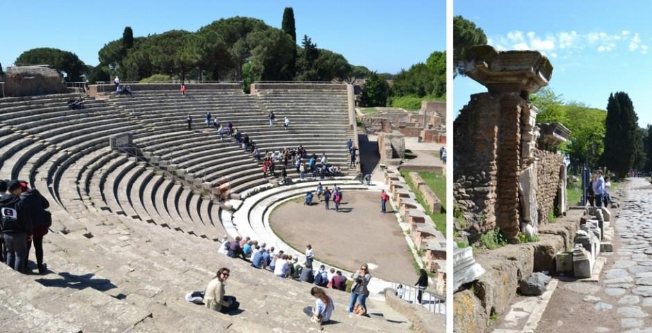 Passeio em Ostia Antica em Roma