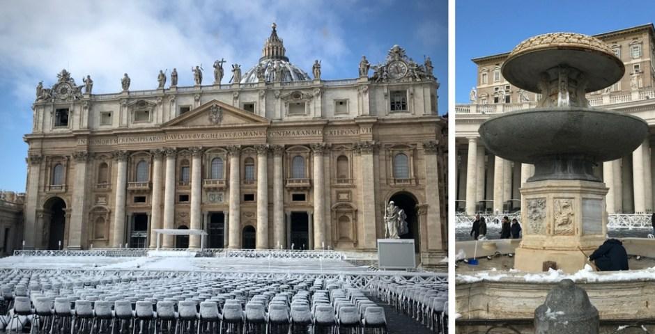 Roma coberta de neve