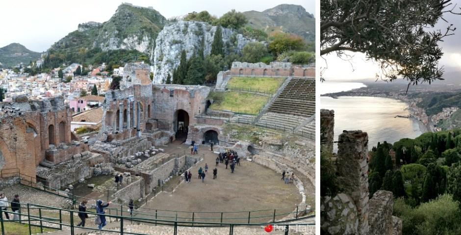 Teatro Grego de Taormina na Sicília, Itália