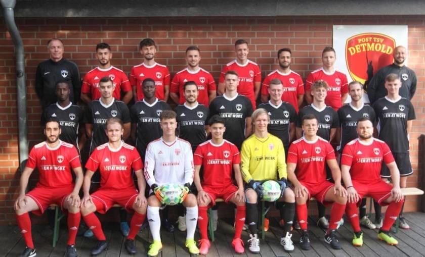 ost TSV Detmold 1. Mannschaft Bezirksliga  - Mannschaftsfoto 2020/2021