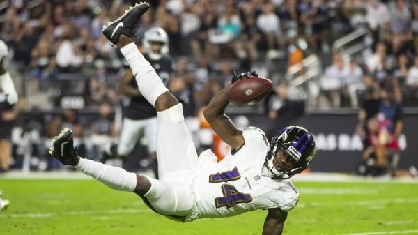 Ravens WR Sammy Watkins ruled out vs. Chargers