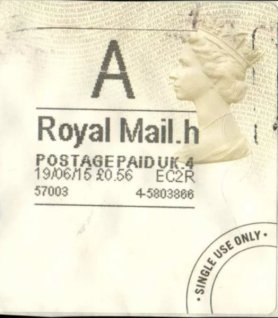 Horizon Postage Label