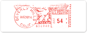 USPS Metered Mail Stamp