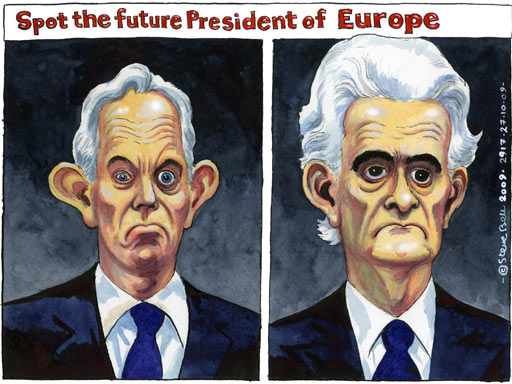 Stop the future president of EU - 27.10.09 - Steve Bell