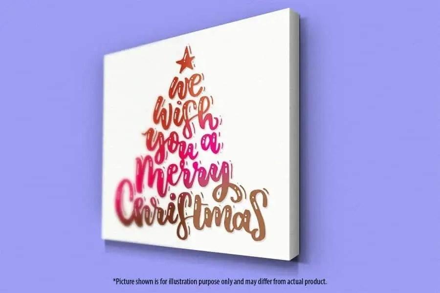 Wish You Merry Christmas (tree shape) - Wall Art | PostalAnnex of Azusa