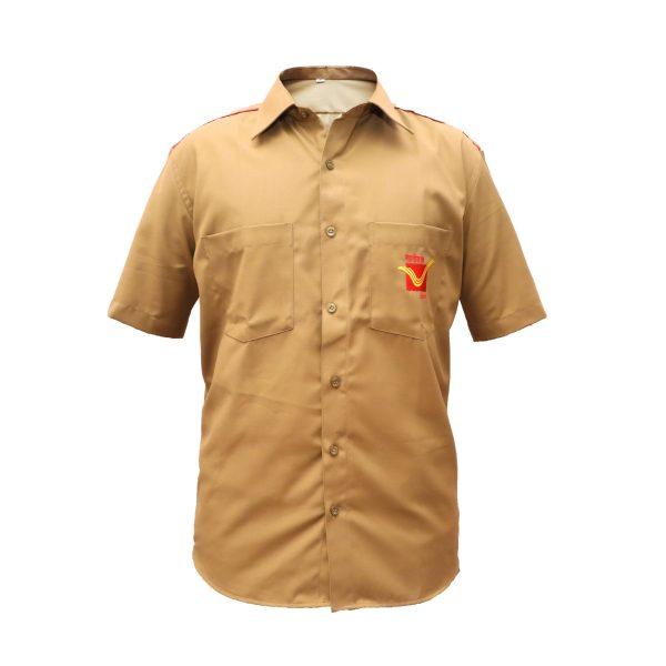 postman dress khaki shirt