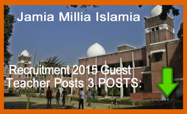 jamia millia islamia recruitment,
