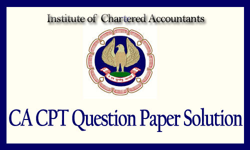 CA CPT answer key june 2015