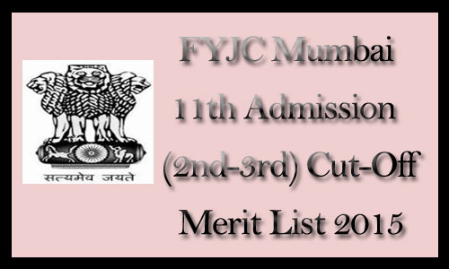 FYJC  second merit list 2015