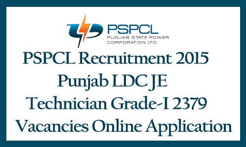 PSPCL LDC recruitment 2015