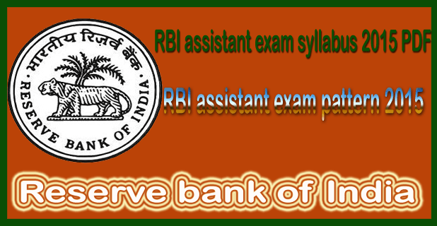 RBI assistant exam syllabus 2016 PDF