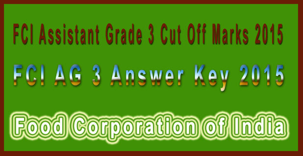 FCI AG 3 Answer Key 2015