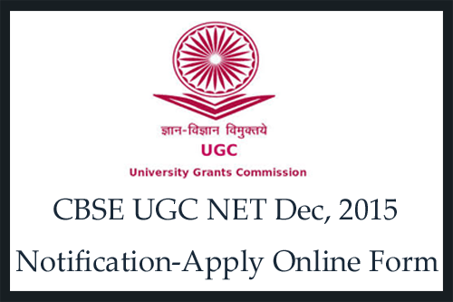 CBSE net application 2015 December