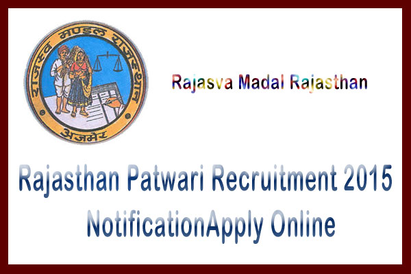 Rajasthan Patwari recruitment 2015